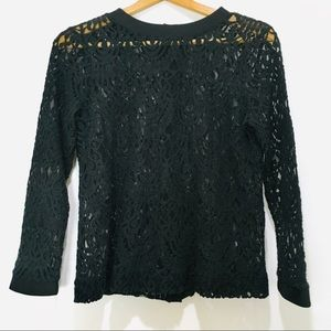 Banana Republic Lace Top with Button Sleeves